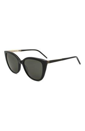 Женские солнцезащитные очки SAINT LAURENT черного цвета, арт. SL M70 002 | Фото 1