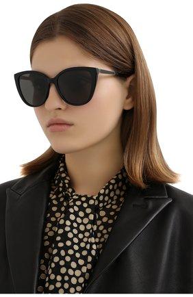 Женские солнцезащитные очки SAINT LAURENT черного цвета, арт. SL M70 002 | Фото 2