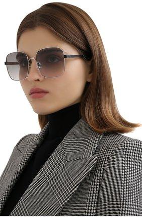 Женские солнцезащитные очки SAINT LAURENT светло-серого цвета, арт. SL M75 003 | Фото 2 (Тип очков: С/з; Очки форма: Квадратные)