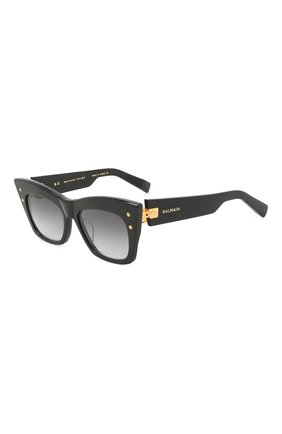 Женские солнцезащитные очки BALMAIN черного цвета, арт. BPS-101A   Фото 1