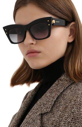 Женские солнцезащитные очки BALMAIN черного цвета, арт. BPS-101A   Фото 2