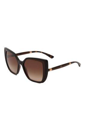 Женские солнцезащитные очки DOLCE & GABBANA коричневого цвета, арт. 6138-318513 | Фото 1