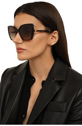 Женские солнцезащитные очки DOLCE & GABBANA коричневого цвета, арт. 6138-318513 | Фото 2