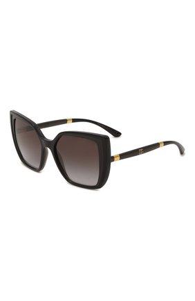 Женские солнцезащитные очки DOLCE & GABBANA черного цвета, арт. 6138-32468G | Фото 1