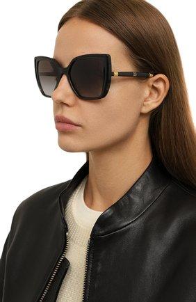 Женские солнцезащитные очки DOLCE & GABBANA черного цвета, арт. 6138-32468G | Фото 2