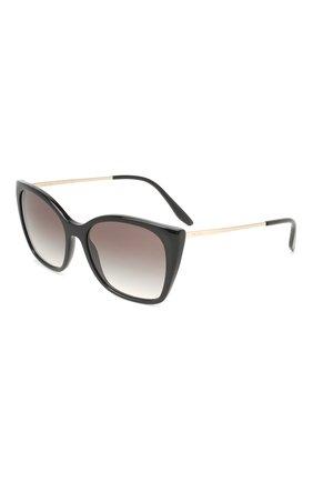 Женские солнцезащитные очки PRADA черного цвета, арт. 12XS-1AB0A7   Фото 1