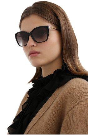 Женские солнцезащитные очки PRADA черного цвета, арт. 12XS-1AB0A7   Фото 2