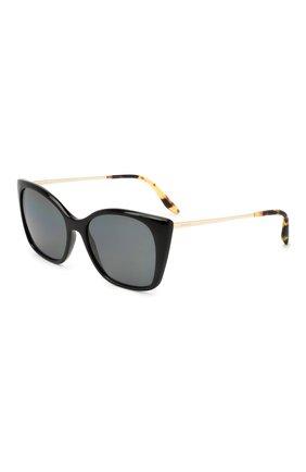 Женские солнцезащитные очки PRADA черного цвета, арт. 12XS-1AB5Z1   Фото 1