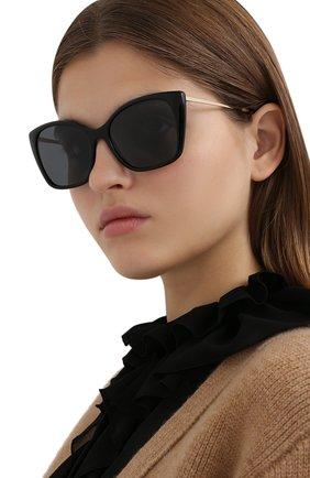 Женские солнцезащитные очки PRADA черного цвета, арт. 12XS-1AB5Z1   Фото 2