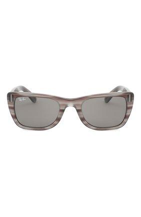 Женские солнцезащитные очки RAY-BAN серого цвета, арт. 2248-1314B1 | Фото 4