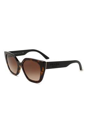 Женские солнцезащитные очки PRADA коричневого цвета, арт. 24XS-2AU6S1 | Фото 1