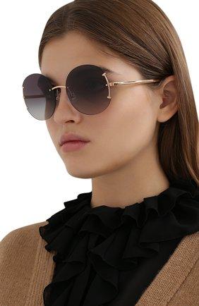 Женские солнцезащитные очки TIFFANY & CO. золотого цвета, арт. 3071-61093C | Фото 2