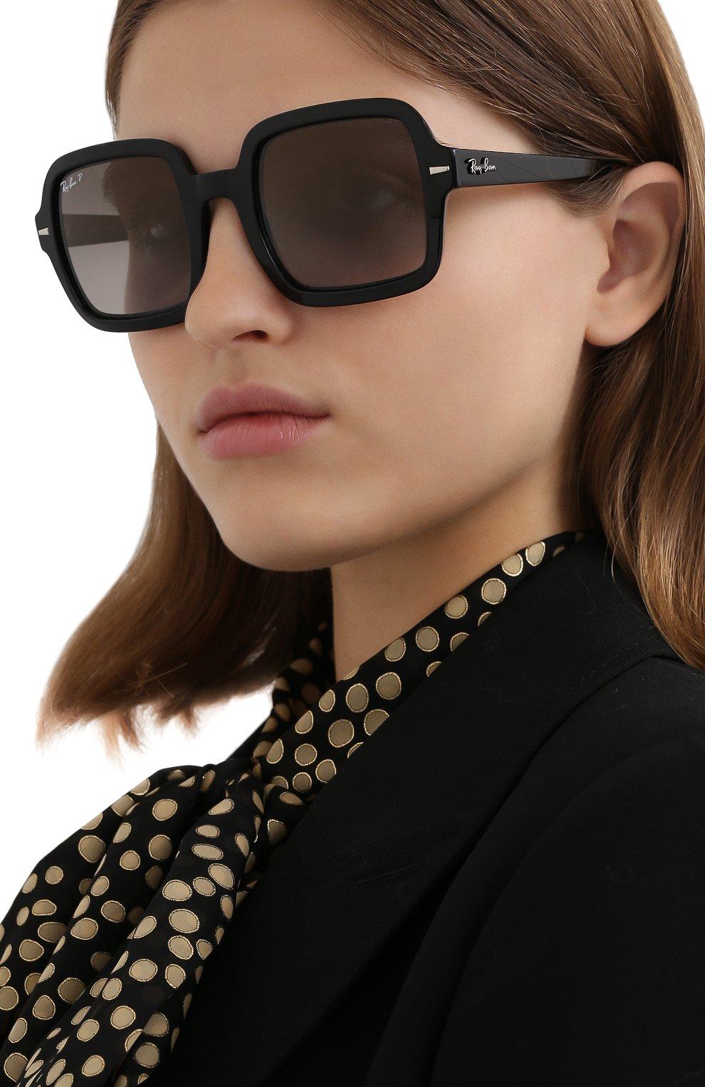 Женские солнцезащитные очки RAY-BAN черного цвета, арт. 2188-901/M3 | Фото 2