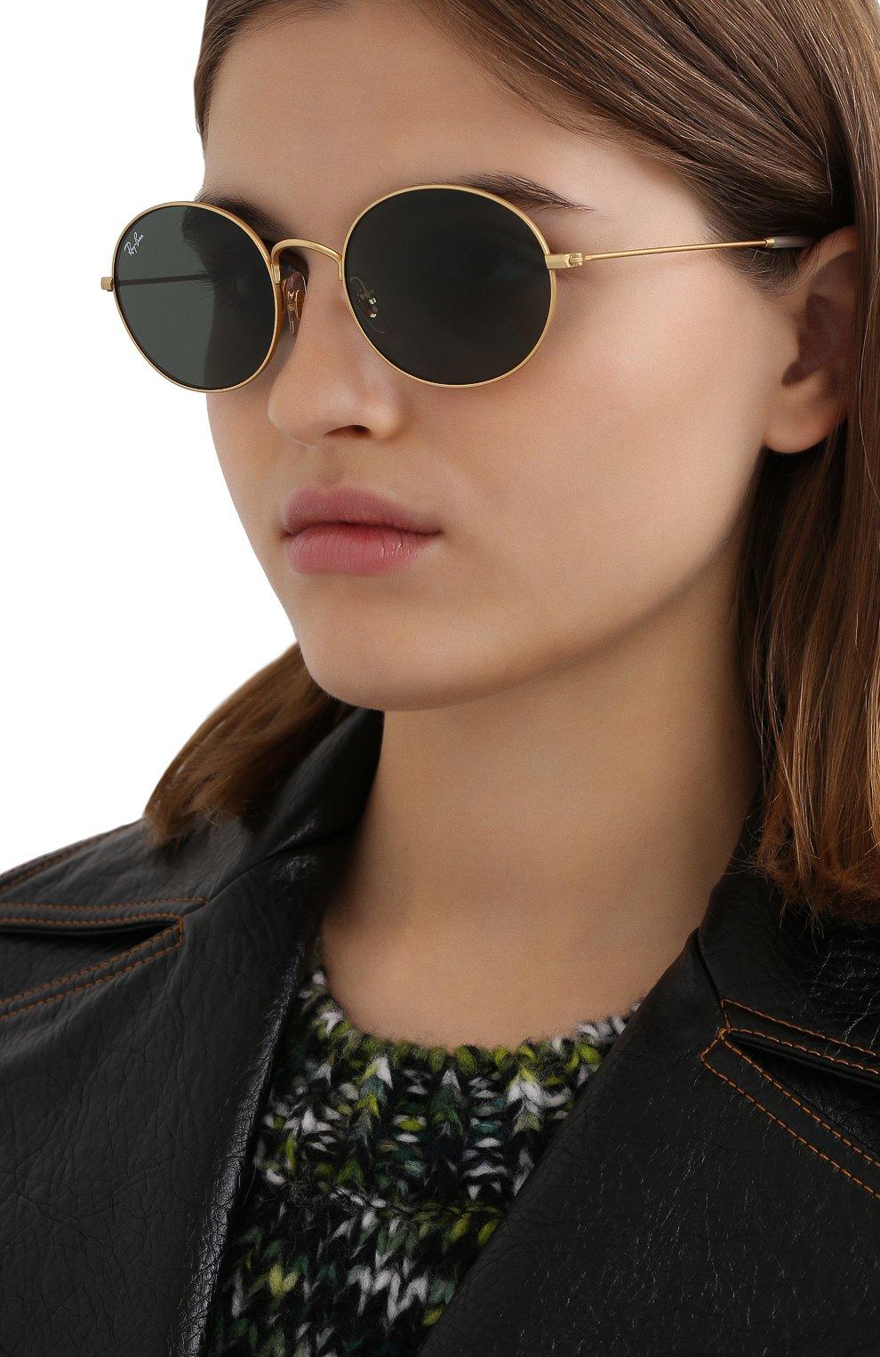 Женские солнцезащитные очки RAY-BAN золотого цвета, арт. 3594-901371 | Фото 2