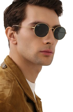 Женские солнцезащитные очки RAY-BAN золотого цвета, арт. 3594-901371 | Фото 3