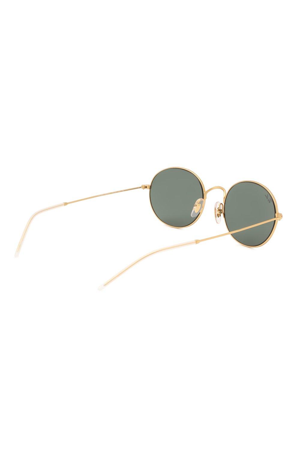 Женские солнцезащитные очки RAY-BAN золотого цвета, арт. 3594-901371 | Фото 5