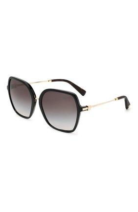 Женские солнцезащитные очки VALENTINO черного цвета, арт. 4077-50018G | Фото 1