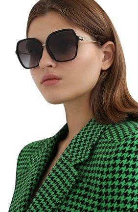 Женские солнцезащитные очки VALENTINO черного цвета, арт. 4077-50018G | Фото 2