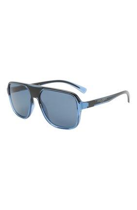 Мужские солнцезащитные очки DOLCE & GABBANA синего цвета, арт. 6134-325880 | Фото 1 (Тип очков: С/з; Оптика Гендер: оптика-мужское; Очки форма: Прямоугольные)