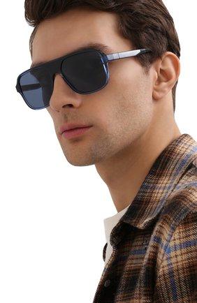 Мужские солнцезащитные очки DOLCE & GABBANA синего цвета, арт. 6134-325880 | Фото 2 (Тип очков: С/з; Оптика Гендер: оптика-мужское; Очки форма: Прямоугольные)