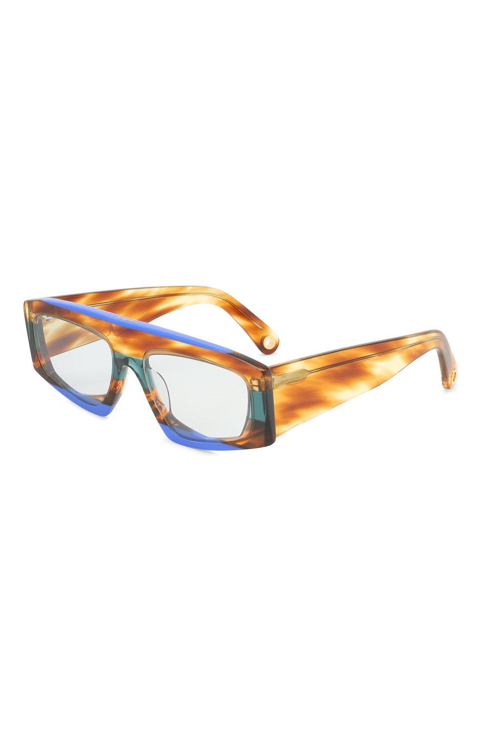 Женские солнцезащитные очки JACQUEMUS коричневого цвета, арт. LES LUNETTES YAUC0 MULTI BLUE   Фото 1