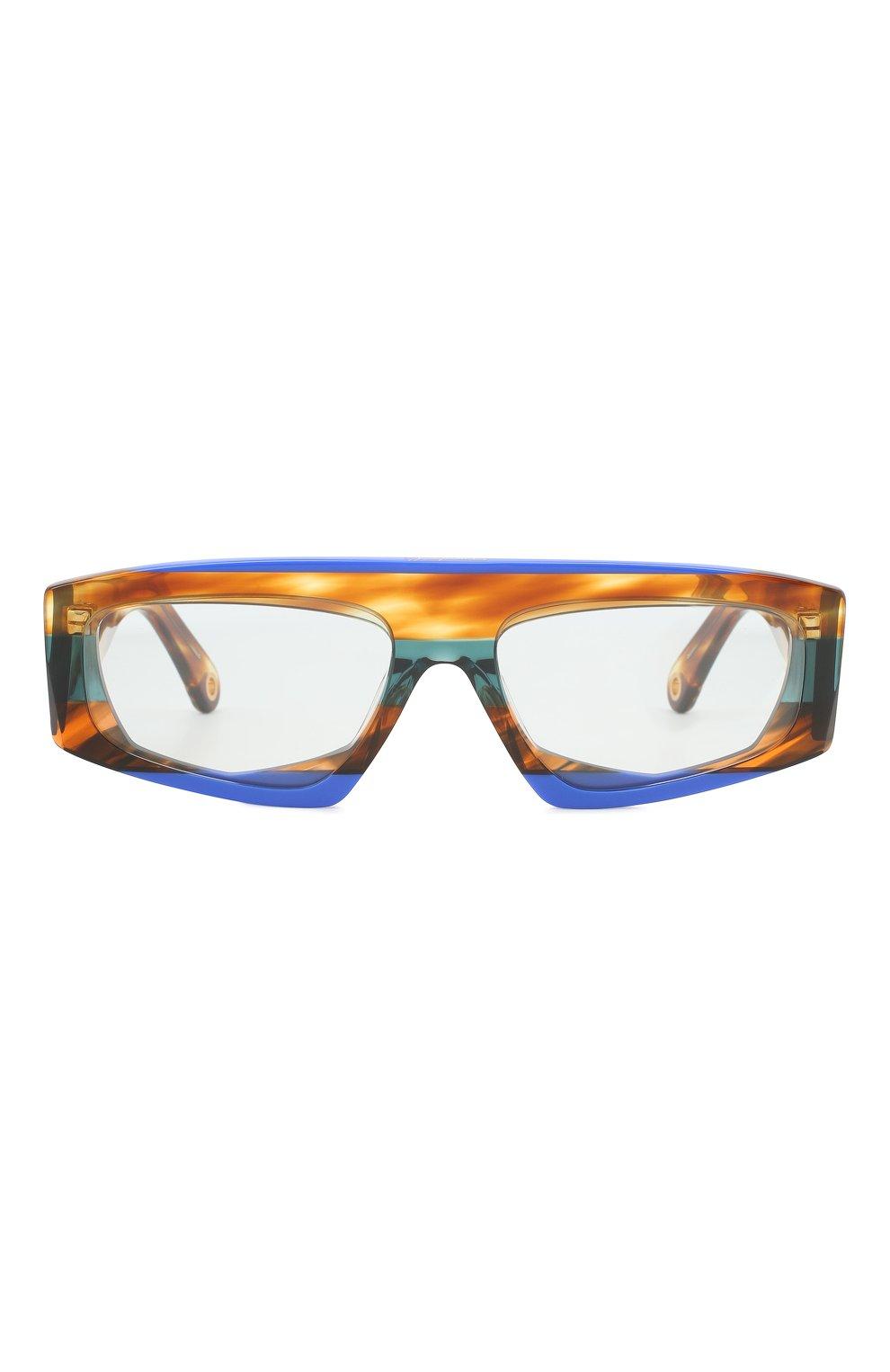 Женские солнцезащитные очки JACQUEMUS коричневого цвета, арт. LES LUNETTES YAUC0 MULTI BLUE   Фото 3