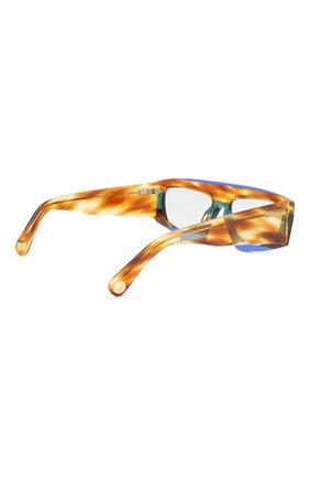 Женские солнцезащитные очки JACQUEMUS коричневого цвета, арт. LES LUNETTES YAUC0 MULTI BLUE   Фото 4
