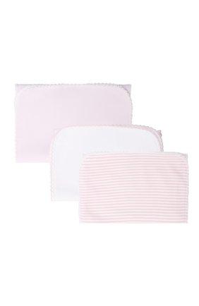 Детского комплект из трех пеленок KISSY KISSY розового цвета, арт. 384121   Фото 2