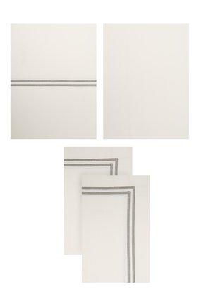 Комплект постельного белья FRETTE серого цвета, арт. FA7017 E3434 240B | Фото 1
