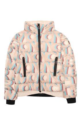 Детская пуховая куртка MONCLER розового цвета, арт. F2-954-1A50E-10-54AKZ/8-10A | Фото 1