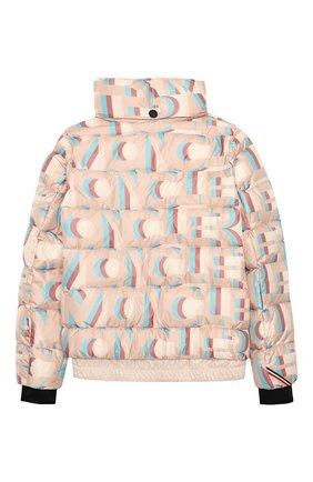 Детская пуховая куртка MONCLER розового цвета, арт. F2-954-1A50E-10-54AKZ/8-10A | Фото 2