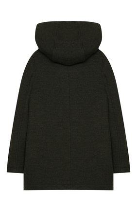 Детское шерстяное пальто DOLCE & GABBANA хаки цвета, арт. L41C96/G7XLH/8-14 | Фото 2