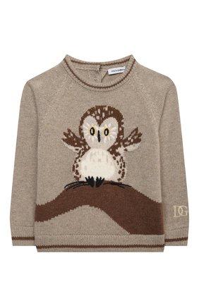 Детский пуловер DOLCE & GABBANA бежевого цвета, арт. L1KW85/JAM7F | Фото 1