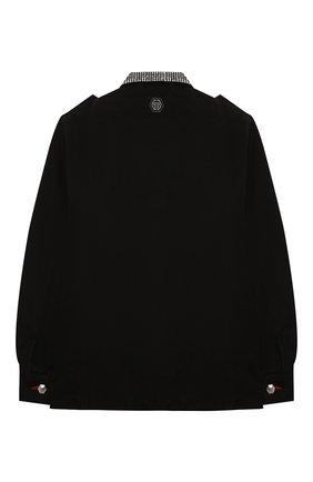 Детская джинсовая куртка PHILIPP PLEIN черного цвета, арт. F20C GRA0070 PTE003N | Фото 2