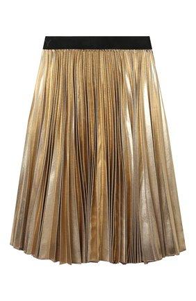 Детская плиссированная юбка GIVENCHY бронзового цвета, арт. H13036 | Фото 2