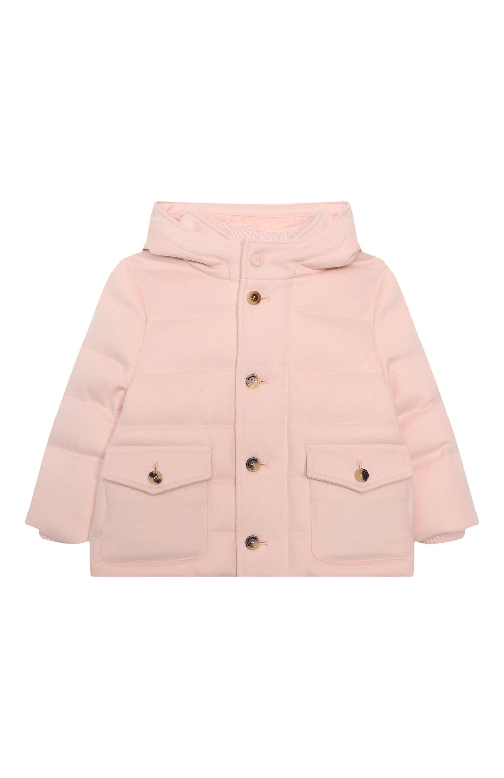Детского пуховая куртка LORO PIANA светло-розового цвета, арт. FAL3466 | Фото 1