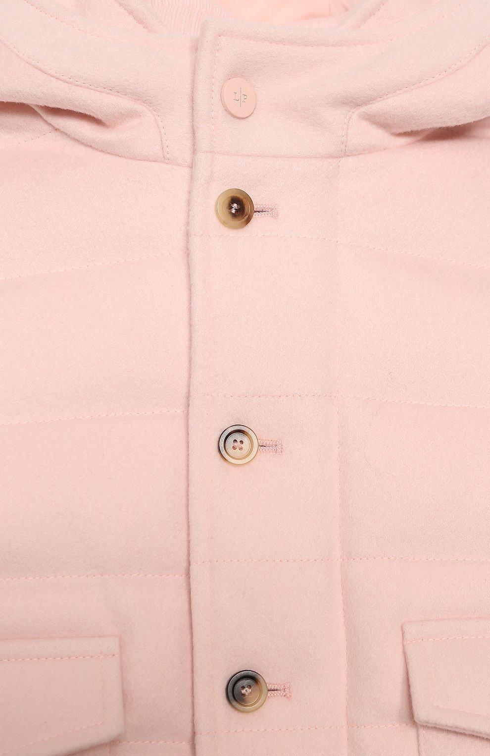 Детского пуховая куртка LORO PIANA светло-розового цвета, арт. FAL3466 | Фото 3