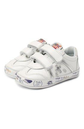 Детского кожаные пинетки PREMIATA WILL BE белого цвета, арт. 11-00CU0002-V | Фото 1