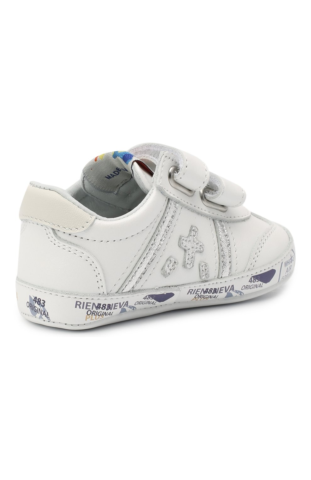 Детского кожаные пинетки PREMIATA WILL BE белого цвета, арт. 11-00CU0002-V | Фото 3