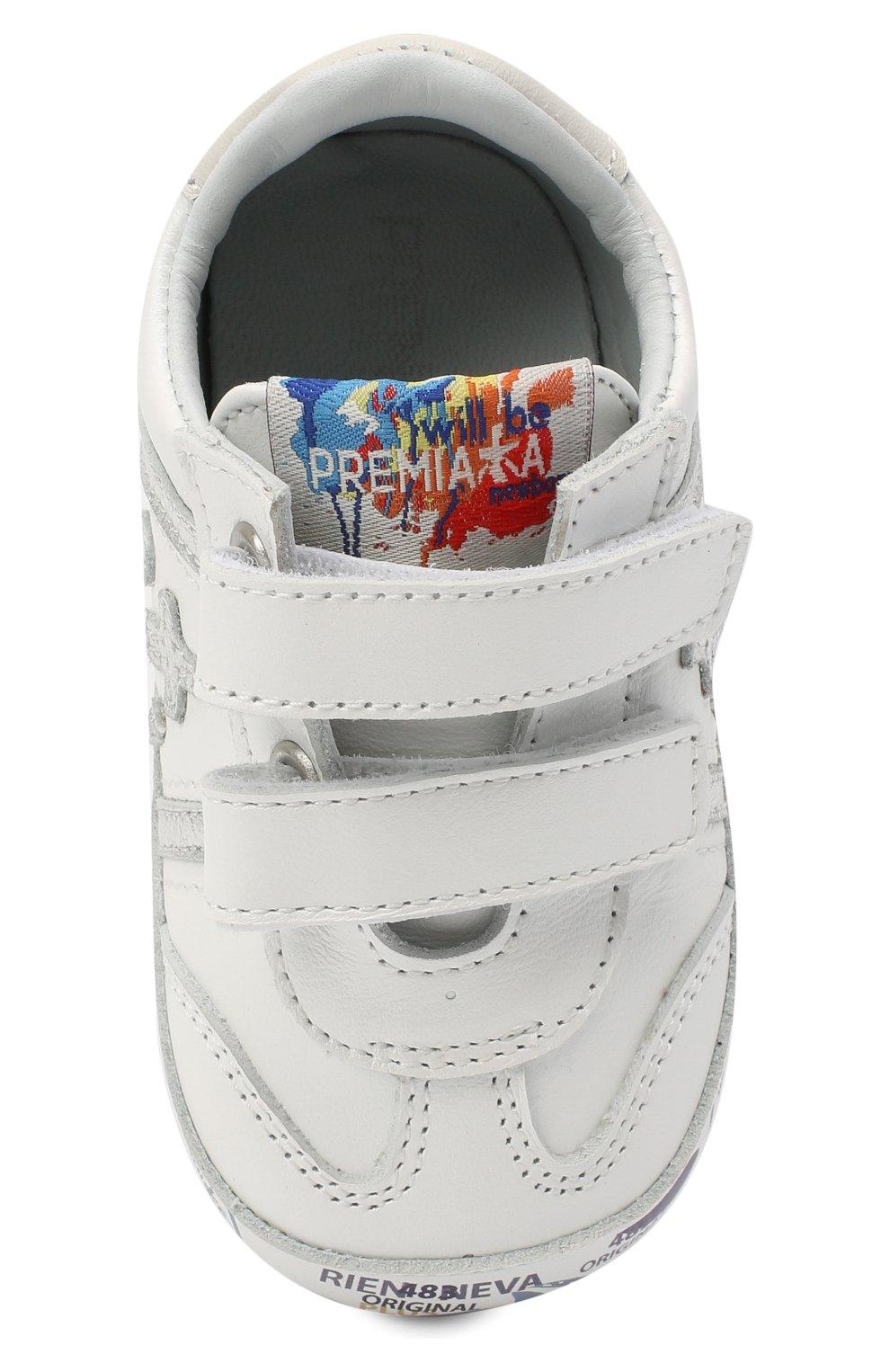 Детского кожаные пинетки PREMIATA WILL BE белого цвета, арт. 11-00CU0002-V | Фото 4