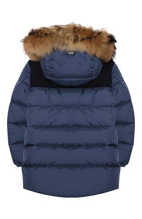 Детский пуховая куртка HERNO синего цвета, арт. PI0088B/12004/4A-8A | Фото 2