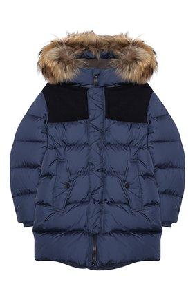 Детский пуховая куртка HERNO синего цвета, арт. PI0088B/12004/10A-14A | Фото 1