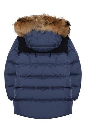 Детский пуховая куртка HERNO синего цвета, арт. PI0088B/12004/10A-14A | Фото 2