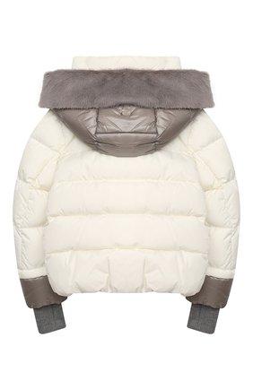 Детского пуховая куртка HERNO белого цвета, арт. PI0085G/12004/4A-8A | Фото 2