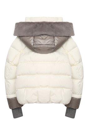Детского пуховая куртка HERNO белого цвета, арт. PI0085G/12004/10A-14A | Фото 2