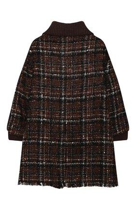Детское твидовое пальто DOLCE & GABBANA коричневого цвета, арт. L53C93/FQMHD/8-14 | Фото 2