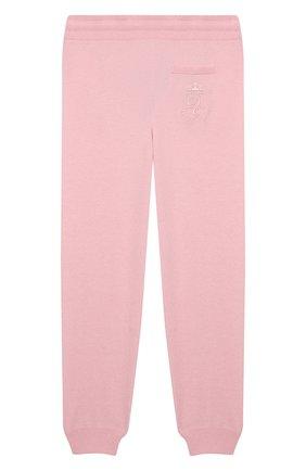 Детские кашемировые джоггеры DOLCE & GABBANA розового цвета, арт. L4KP00/JAW00/8-14 | Фото 2