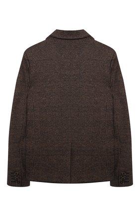 Детский пиджак из хлопка и шерсти DOLCE & GABBANA коричневого цвета, арт. L41E77/G7XJV/8-14 | Фото 2