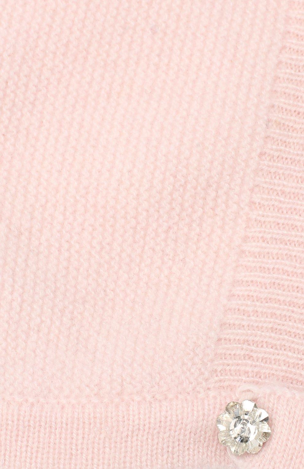 Детского кашемировая шапка LES LUTINS PARIS светло-розового цвета, арт. 20H053/JANE | Фото 3