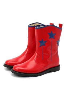 Детские кожаные сапоги GUCCI красного цвета, арт. 629728/D73Y0 | Фото 1
